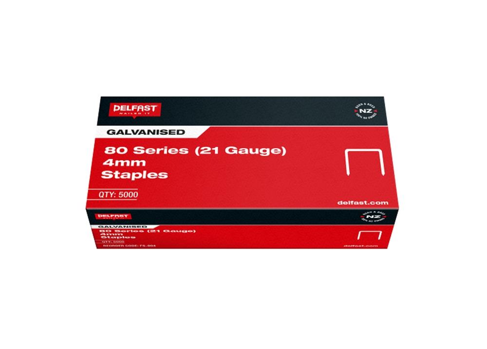 Delfast Staples 80 Series Galv 4mm 10000