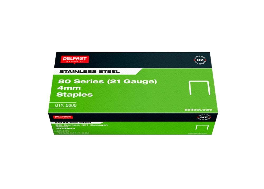 Delfast Staples 80 Series SS 4mm 5000