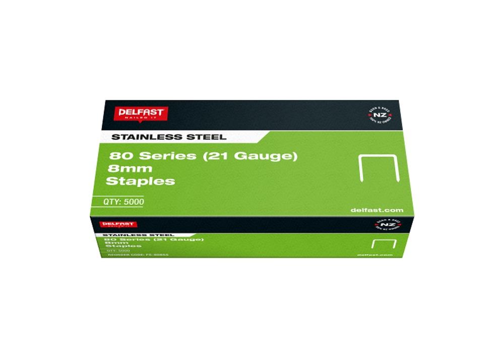 Delfast Staples 80 Series SS 8mm 5000