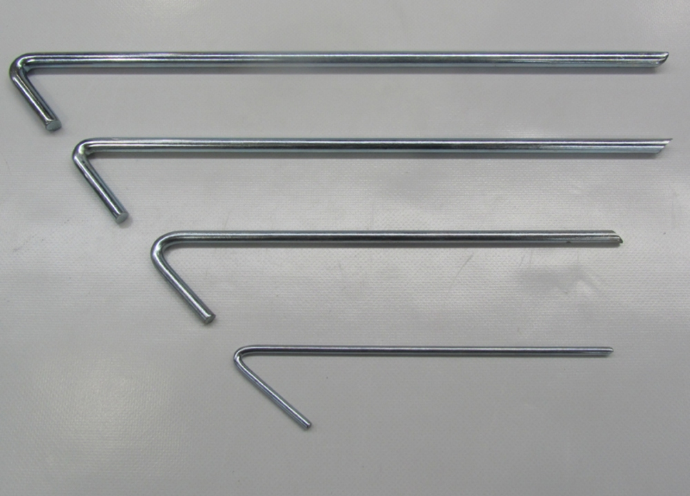 Tent Pegs 175 x 4mm Galv Steel (408)