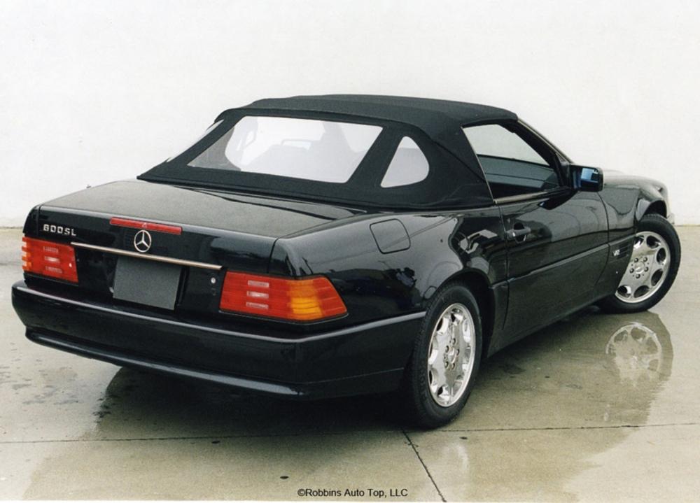 Mercedes 1990-02 SL 300,320,500,600,Plastic Window GR Cloth Black